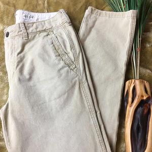 Abercrombie & Fitch Slim Fit Chino Pants Lt Khaki